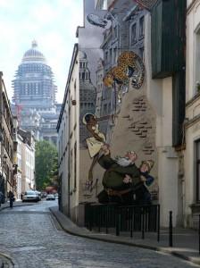 parcours-bd-bruxelles- Brussels Cartoon Murals