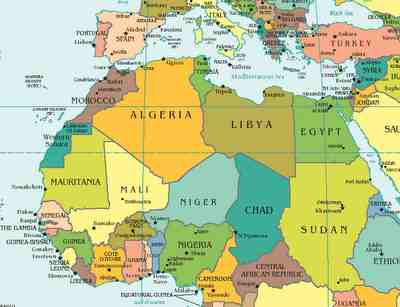 algeria north africa map