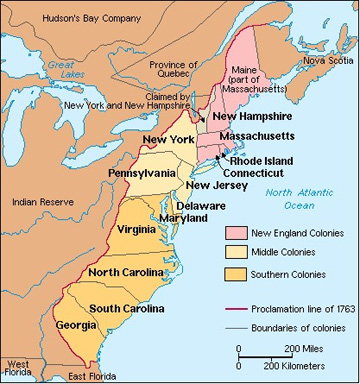 The First Us States First Thirteen Colonies Abcplanet Cheap - Us-map-13-colonies