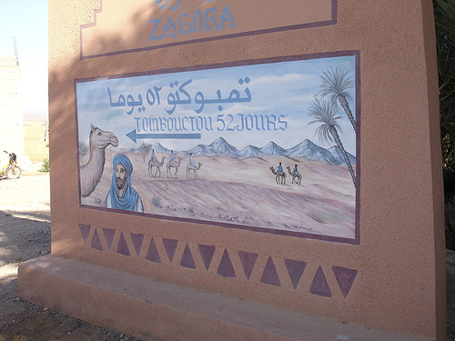 Timbuktu 52 Days Sign