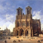 Catherdale_Reims_by_Domenico_Quaglio_(1787_-_1837)