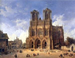 Catherdale_Reims_by_Domenico_Quaglio_(1787_-_1837)
